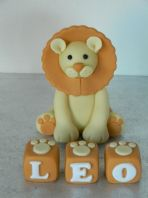 Lion & Name Blocks